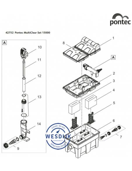 Waterbehuizing UVC BioSmart 5000 - 16000