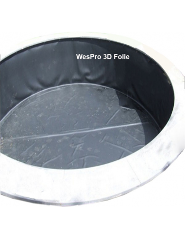 Wespro 3D-vijverfolie Ø 600cm hoog 200cm
