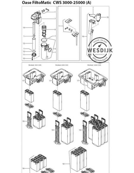 Filtermousse set FiltoMatic CWS 12/14 /25000