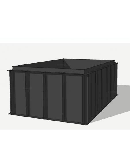 HDPE vijverbak 250x250x151cm (7798 ltr)