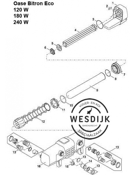 Uv PL- Vervanglamp 60 Watt ECO