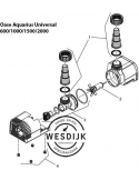 Filterkap + Gummivoet Aquarius Universeel 1000