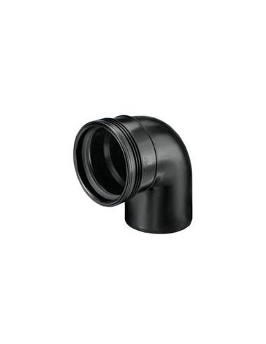 Manchet zwart bocht/spie 90º - 40 mm