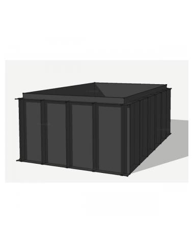 HDPE vijverbak 1000x300x151cm (40783 ltr)
