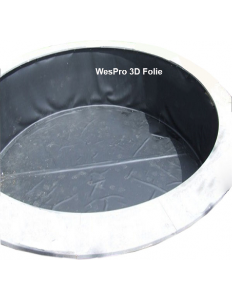 Wespro 3D-vijverfolie Ø 500cm hoog 150cm