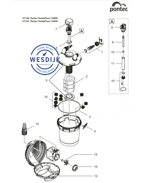 Klemschroeven Set UVC 7 - 9 - 11 Watt
