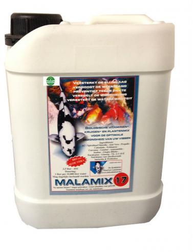 Malamix17 2.5 ltr. Conditie preparaat voor Koi's (goed voor 25 cub)