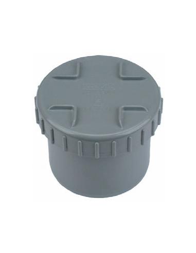 PVC eindstuk 200 mm met schroefdeksel