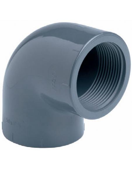 """PVC draadknie 90° - 25 mmx 3/4"""""""