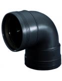 Manchet zwart bocht 90º - 75 mm