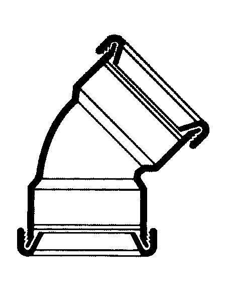 Manchet bocht 45° - 160 mm