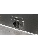 HDPE bodem/zijdrain met rooster 110mm