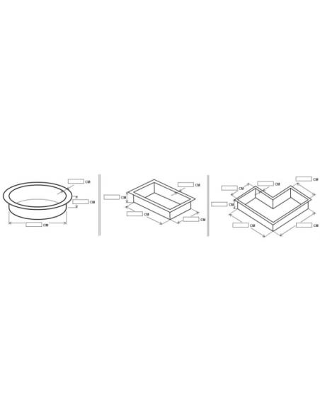 Wespro 3D-vijverfolie Ø 300cm hoog 150cm
