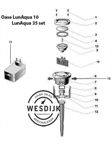 Draaibeugel LunAqua 10, 12 V