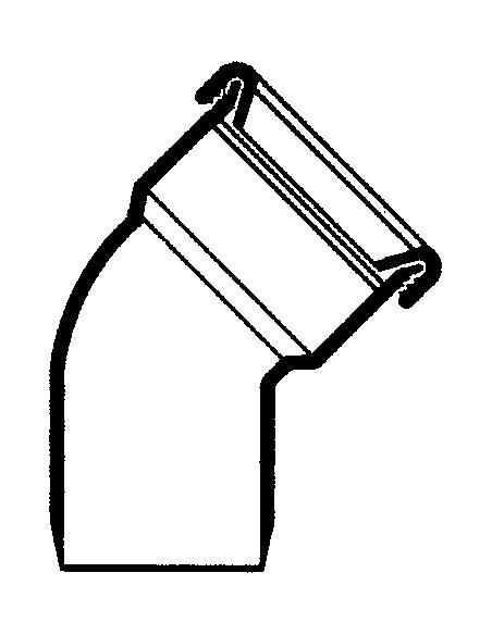 Manchet bocht/spie 45º - 110 mm