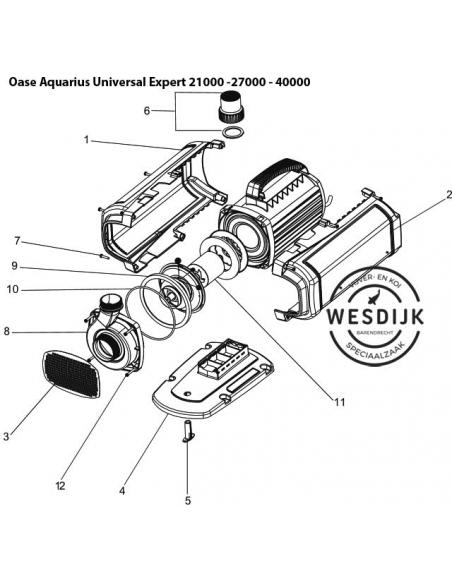 O-Ring Ø154 pomphuis Aquarius Universal Expert 40000