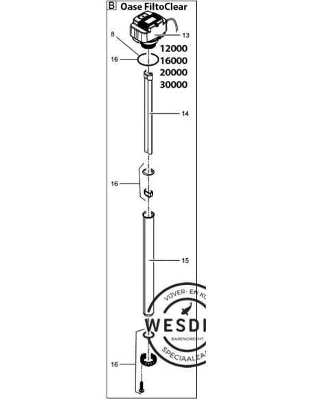Uv PL- Vervanglamp 36 watt (41.5 cm)