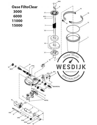 O-Ring Ø330 deksel FiltoClear drukfilter