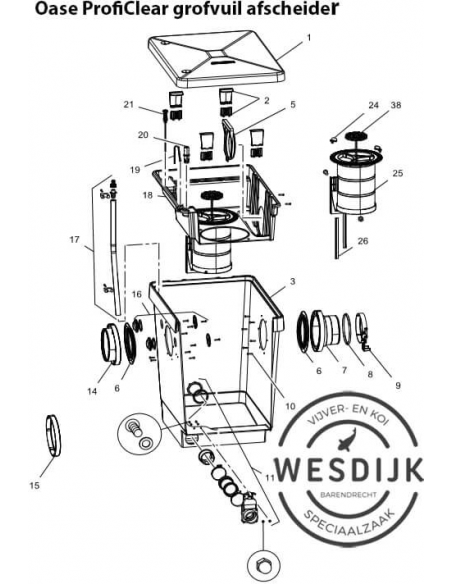 Draaihendel Screenex cilinder ProfiClear
