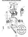 Draaihendel Screenex cilinder ProfiCl.M2