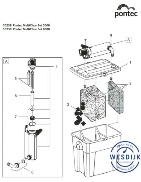 Uv PL- Vervanglamp 7 watt (10.5cm)