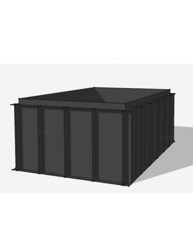 HDPE vijverbak 600x200x150cm (15433 ltr)