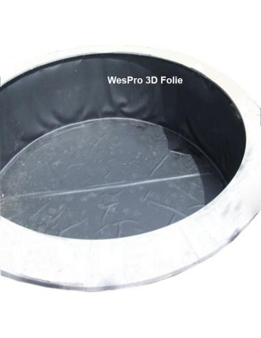 Wespro 3D-vijverfolie Ø 600cm hoog 150cm