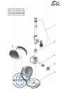 Verv. rotor kpl. ASE 2500 gemagnetiseerd