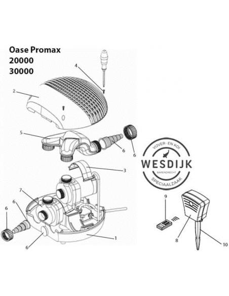 Spanklem Motorbehuizing plastic