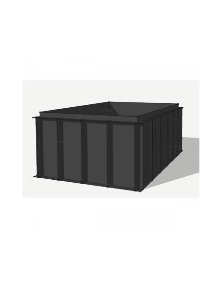 HDPE vijverbak 800x400x151cm (44112 ltr)