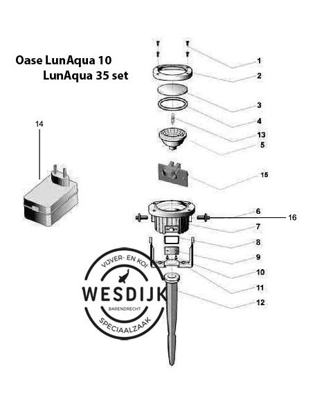 Ovale schroef 5x22 Aquamax en Lunaqua