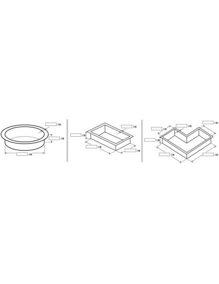 Wespro 3D-vijverfolie 250x250x200cm