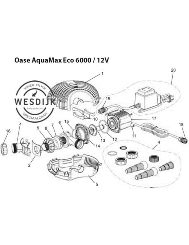 O-ring Ø80 pomphuis Aquarius / AquaMax Eco