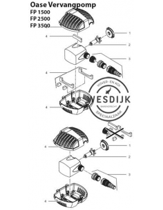 Vervangset filterschalen FP1500-3500