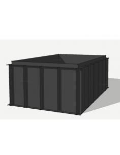 HDPE vijverbak 550x250x150cm (18058 ltr)