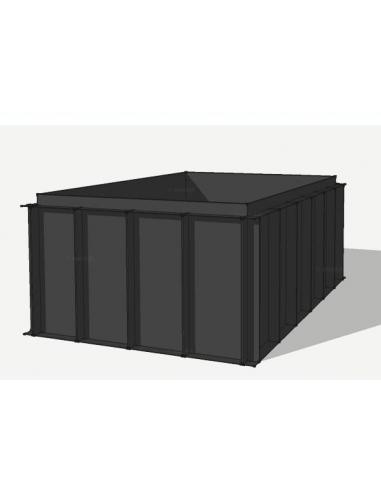 HDPE vijverbak 550x250x151cm (18058 ltr)