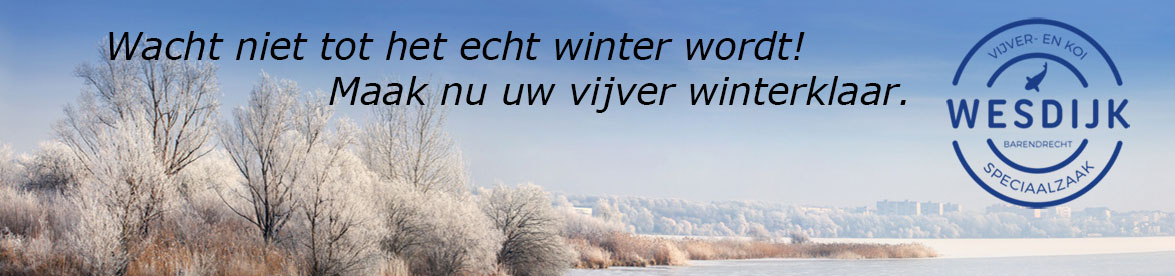 wacht niet tot het echt winter wordt met het winterklaar maken van uw vijver